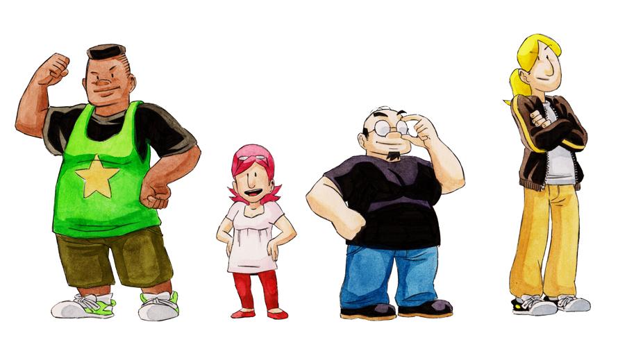Simon, Ludo, Lisa et Mike